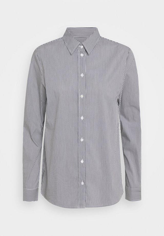 LANGARM - Button-down blouse - navy