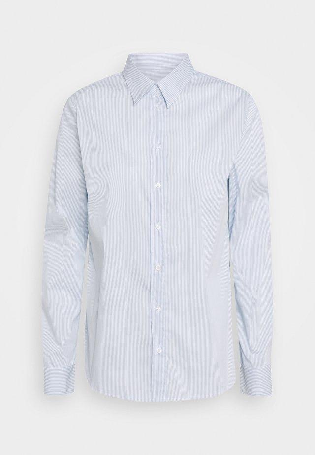 LANGARM - Button-down blouse - blue