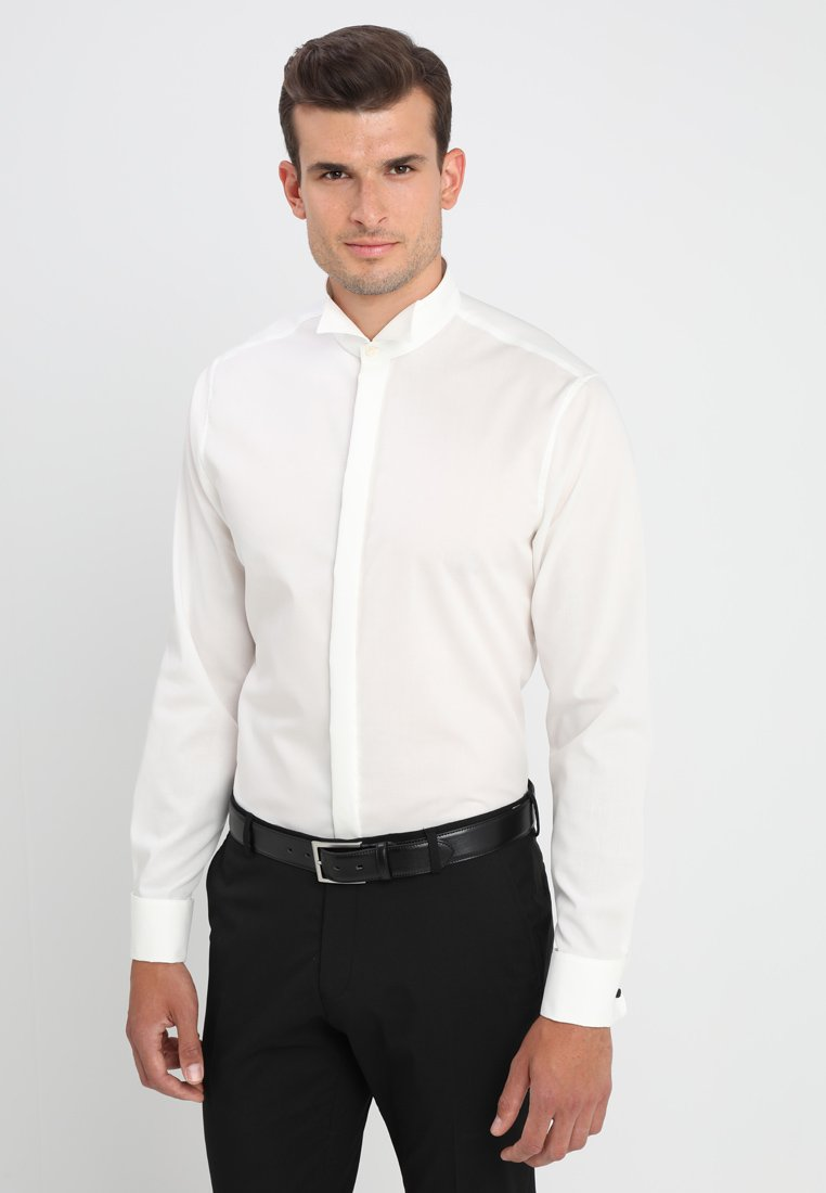 Seidensticker SHAPED FIT - Koszula biznesowa - weiss