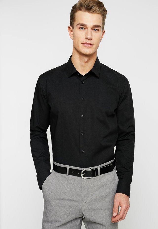 SLIM FIT - Finskjorte - schwarz