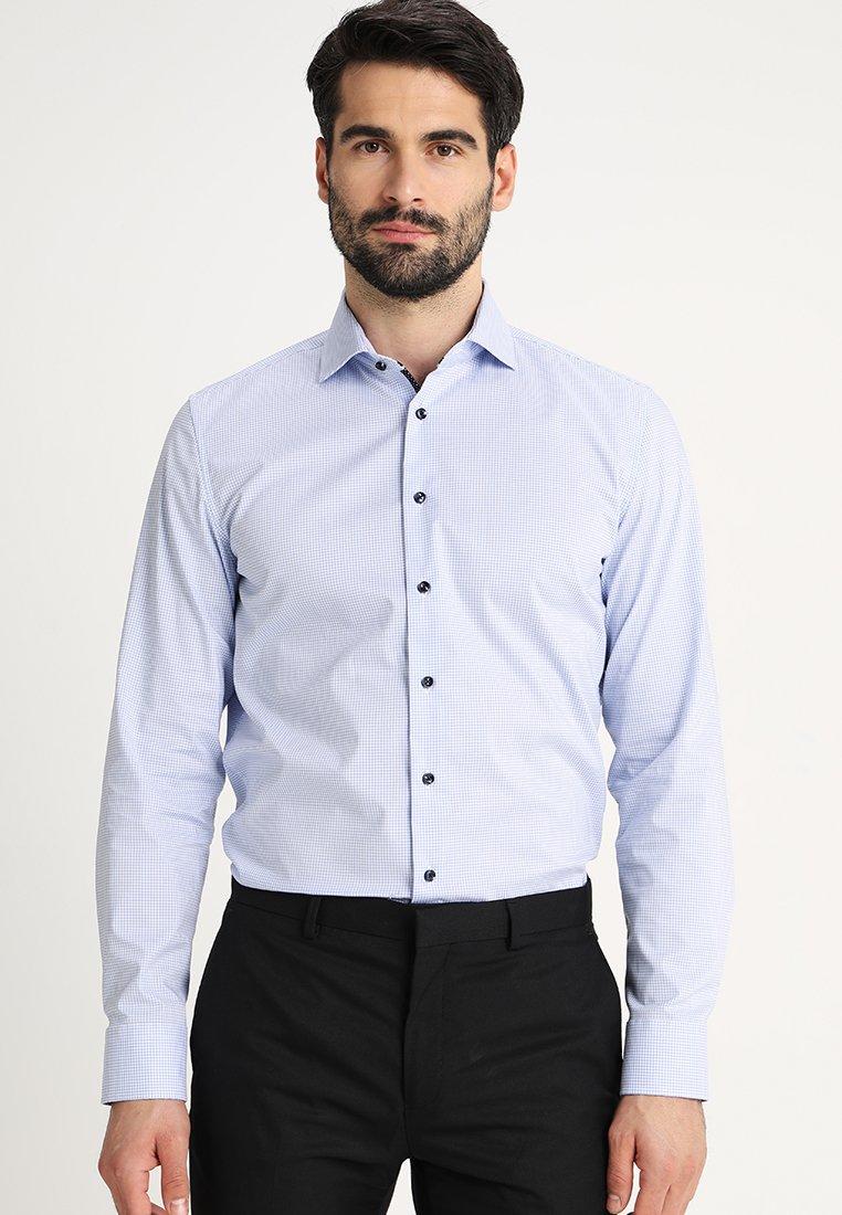 Seidensticker - SLIM FIT SPREAD PATCH - Businesshemd - light blue