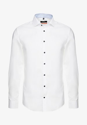 SLIM SPREAD PATCH - Business skjorter - weiß/hellblau