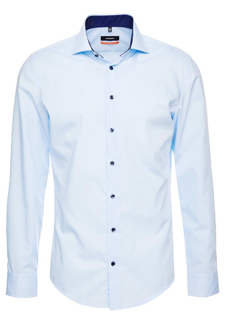 Seidensticker Slim Spread Patch - Camicia Elegante Weiß/grau kToHt