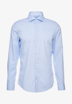 SLIM FIT SPREAD KENT PATCH - Businesshemd - blue