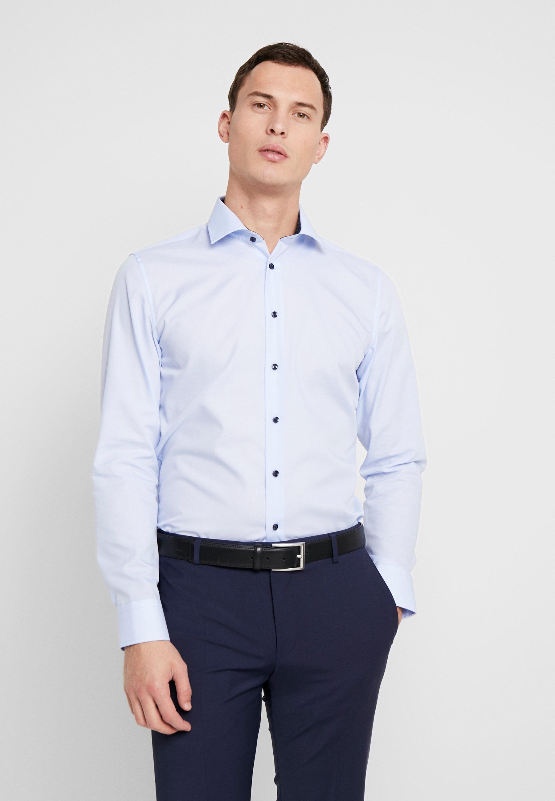 Seidensticker BUSINESS KENT EXTRA SLIM FIT - Koszula biznesowa - light blue
