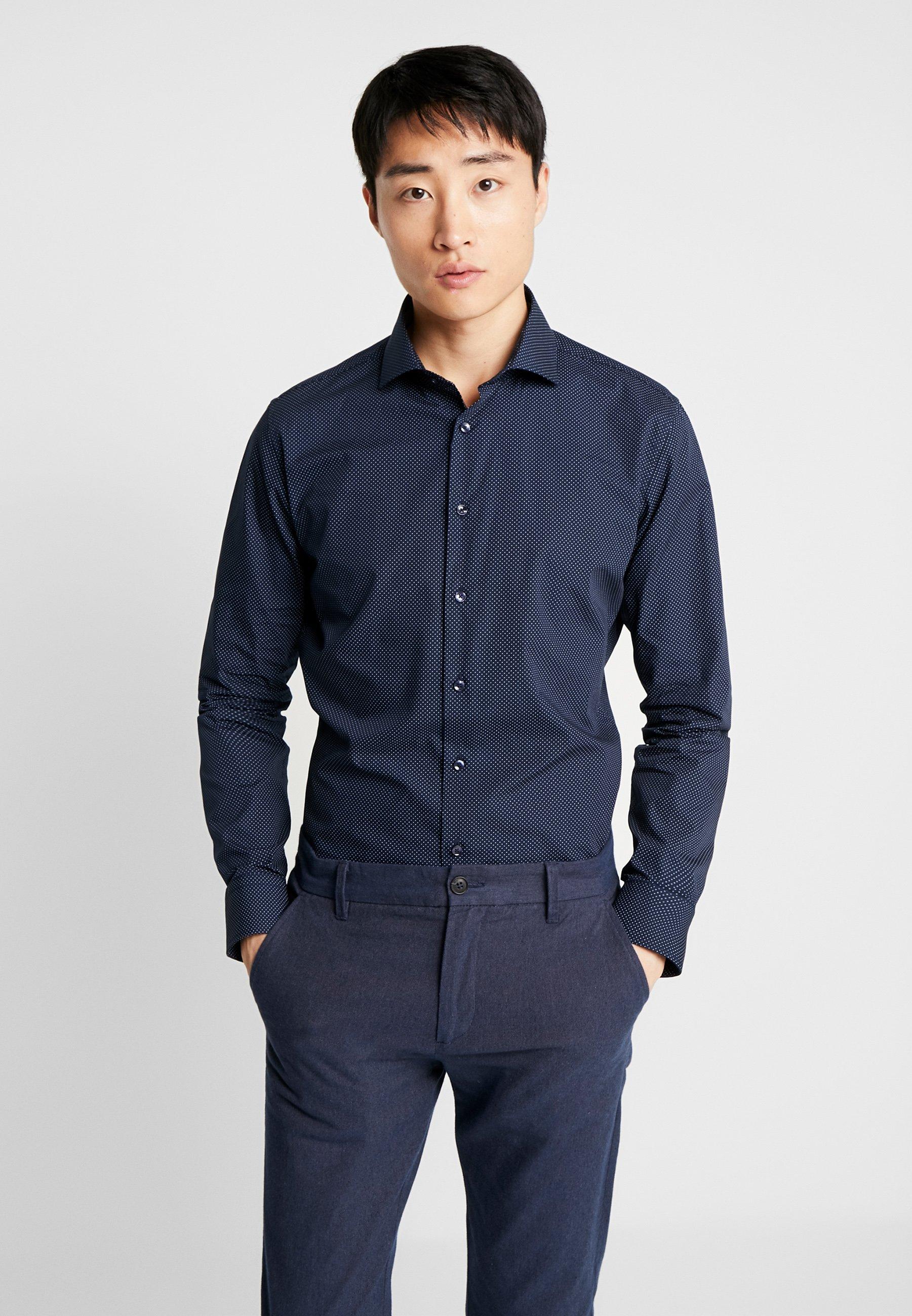 Seidensticker SLIM SPREAD KENT PATCH - Koszula - dark blue