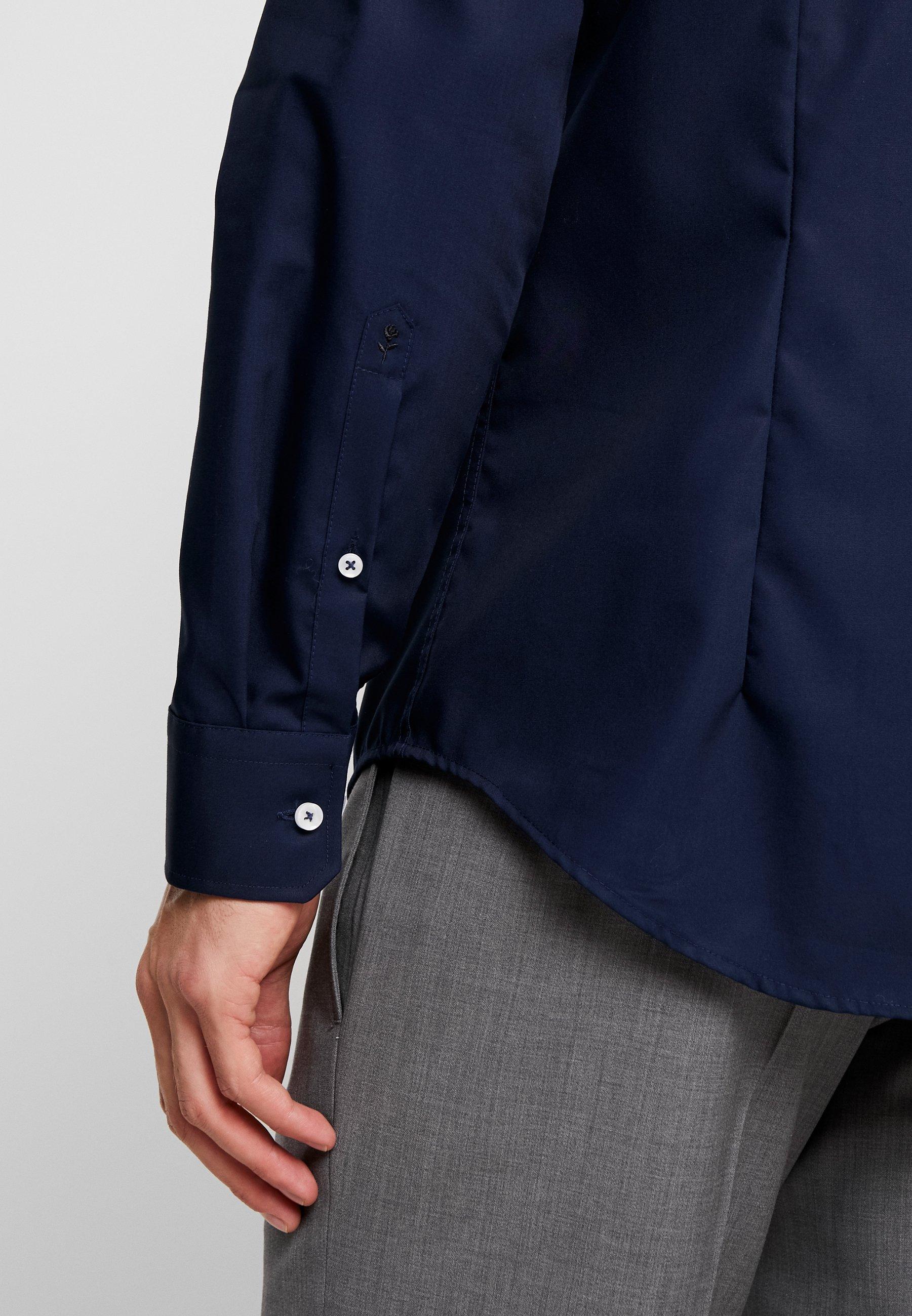 Seidensticker Slim Fit Spread Kent Patch - Kostymskjorta Dark Blue