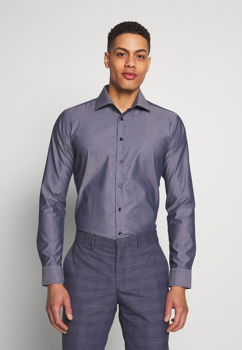 Seidensticker - SLIM FIT BUSINESS KENT - Formal shirt - dark blue