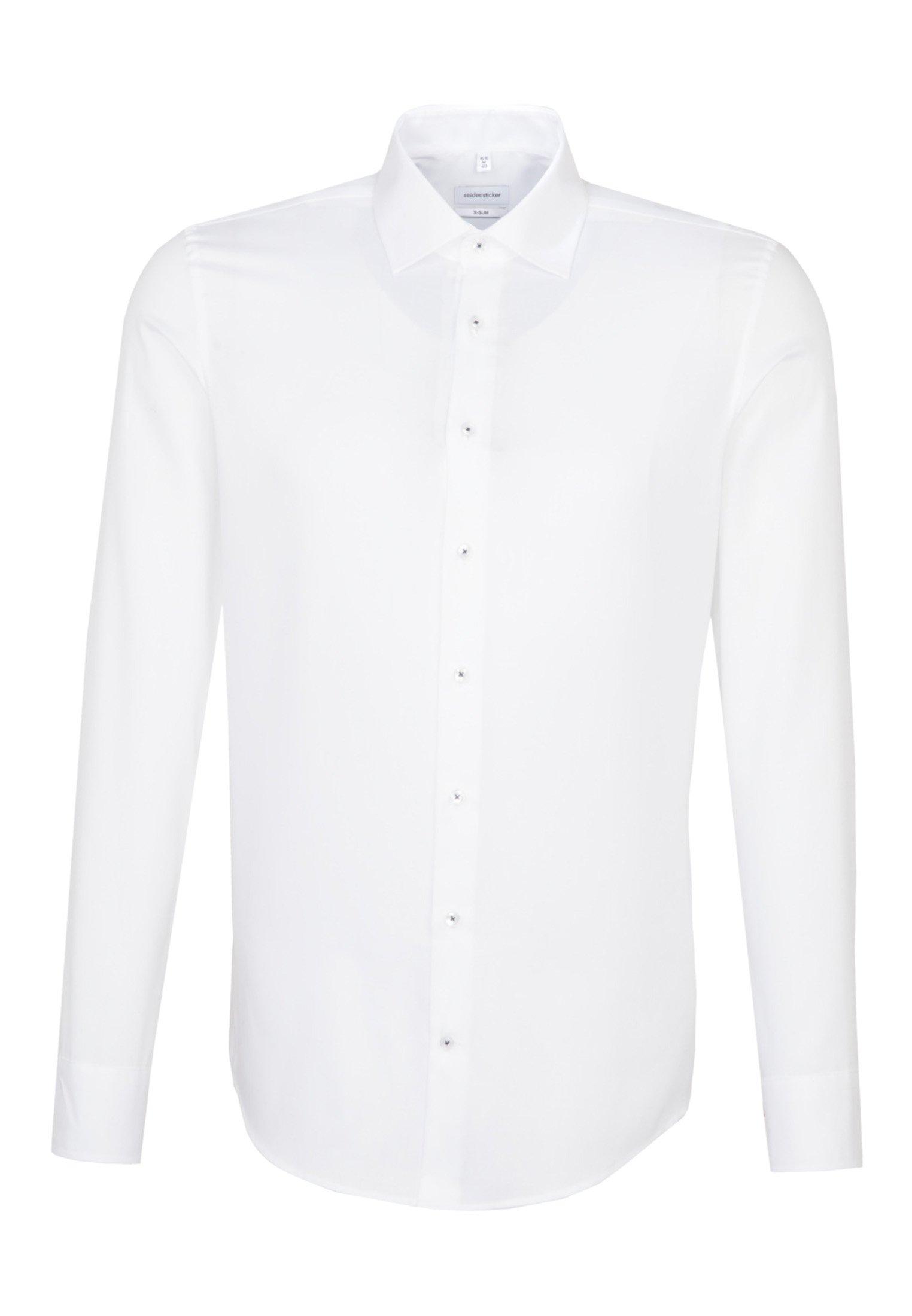 Seidensticker SLIM FIT - Koszula - white