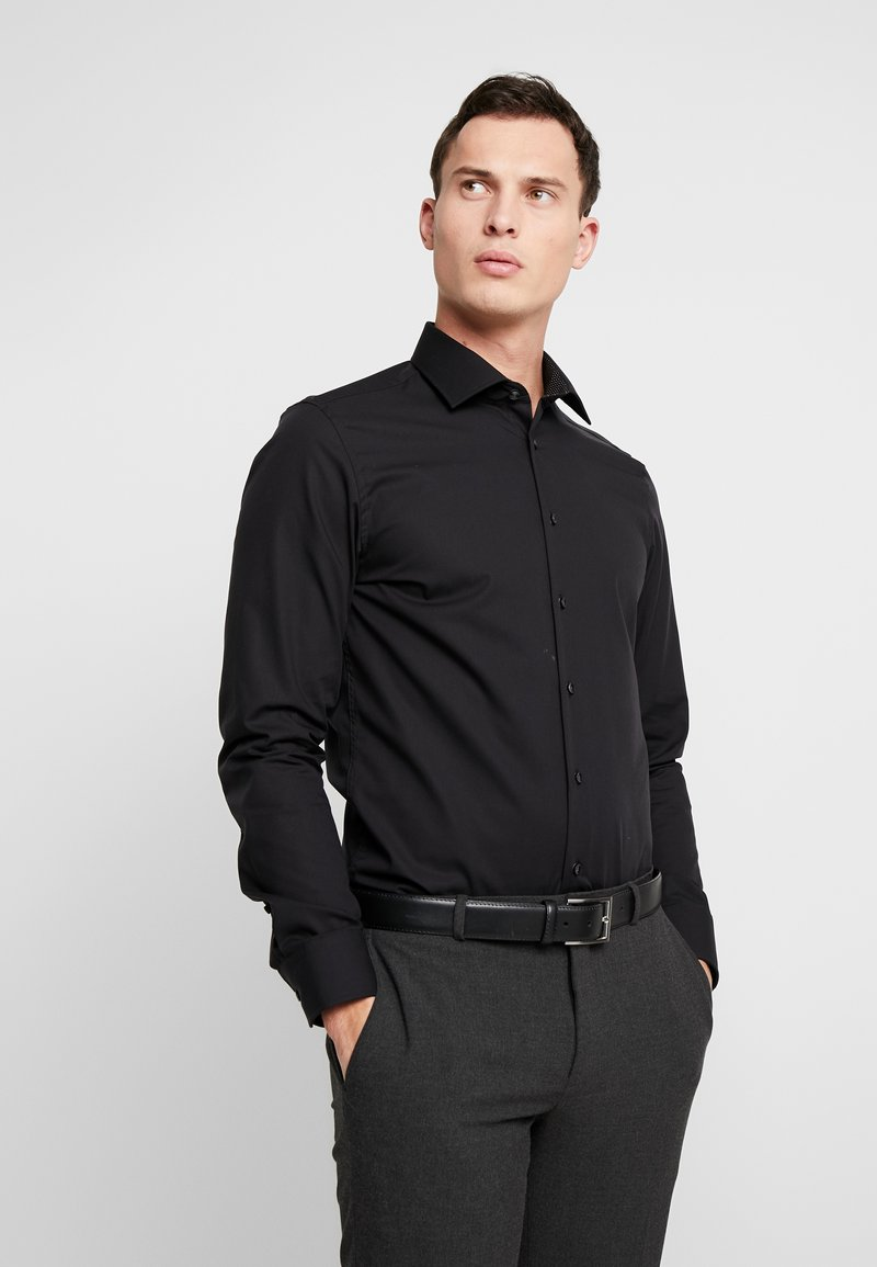 Seidensticker - BUSINESS KENT PATCH SLIM FIT - Zakelijk overhemd - black