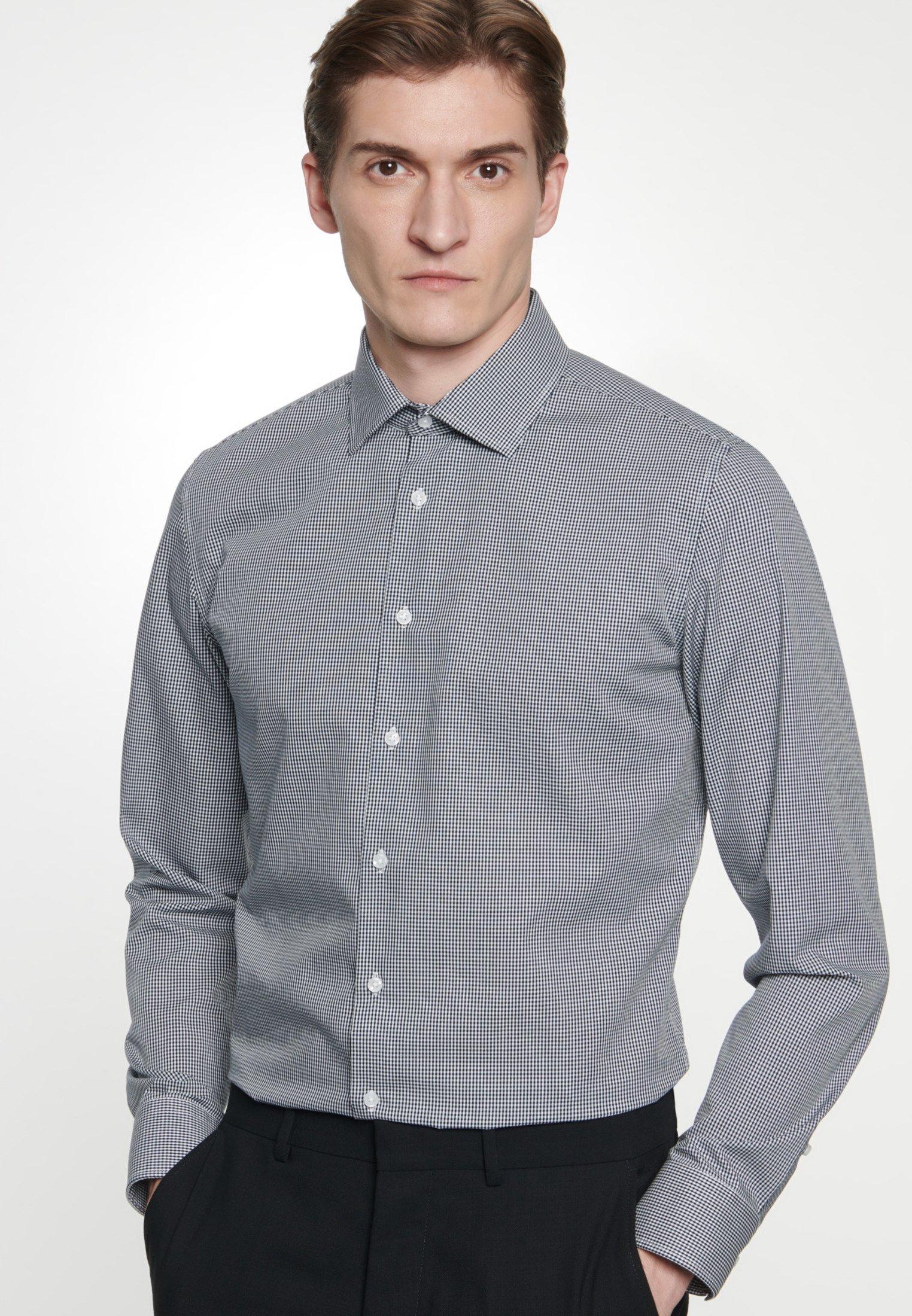 Seidensticker SLIM FIT - Koszula - dark blue