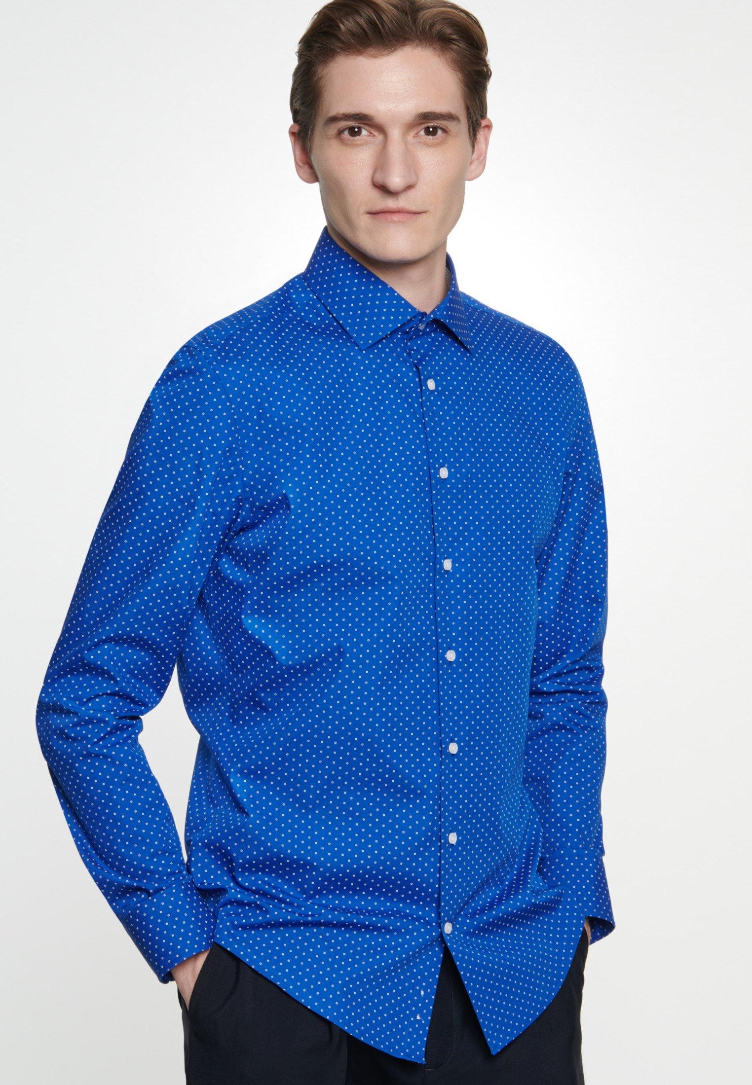 Seidensticker SHAPED FIT - Koszula - blue