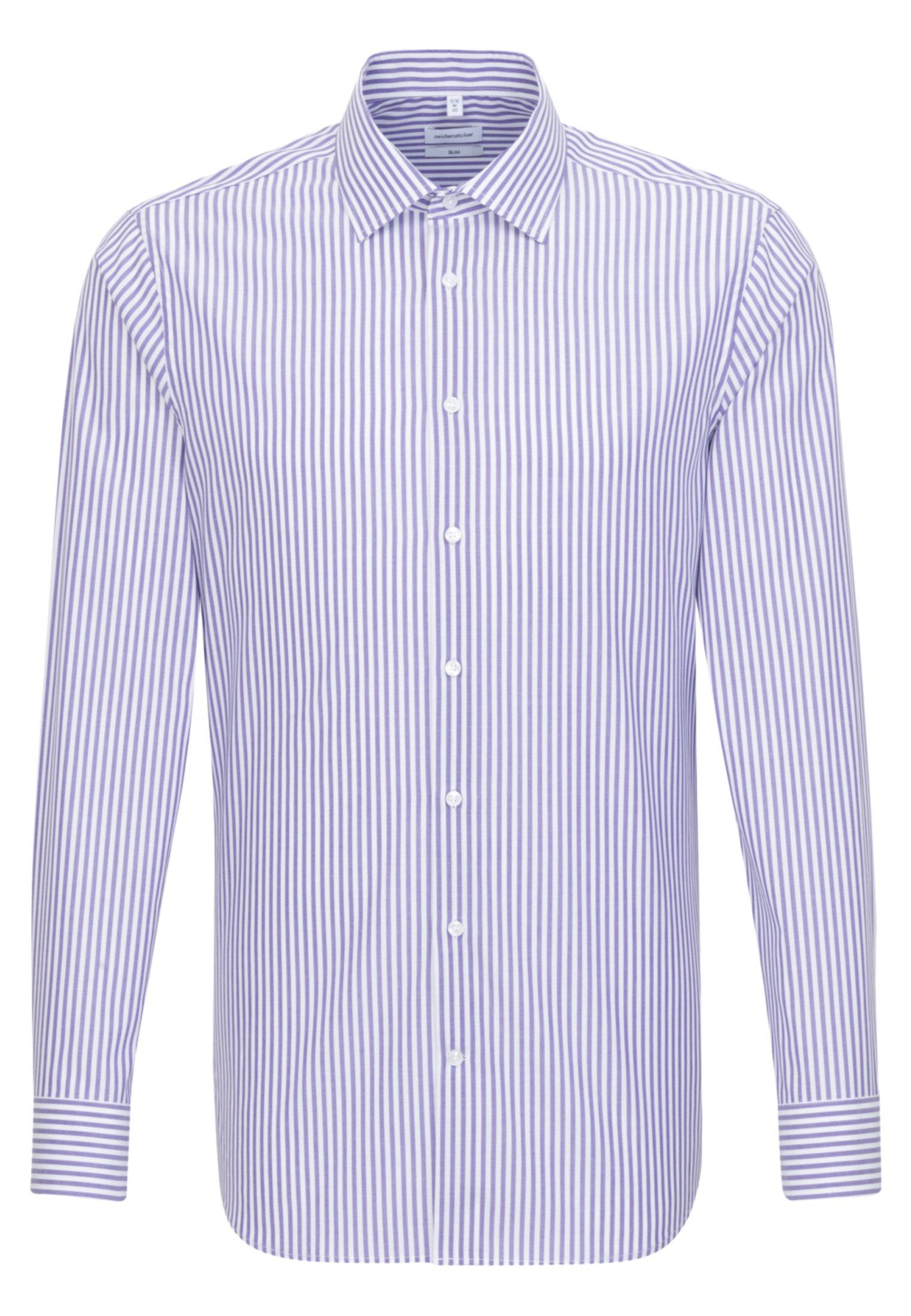 Seidensticker SLIM FIT - Shirt - lila