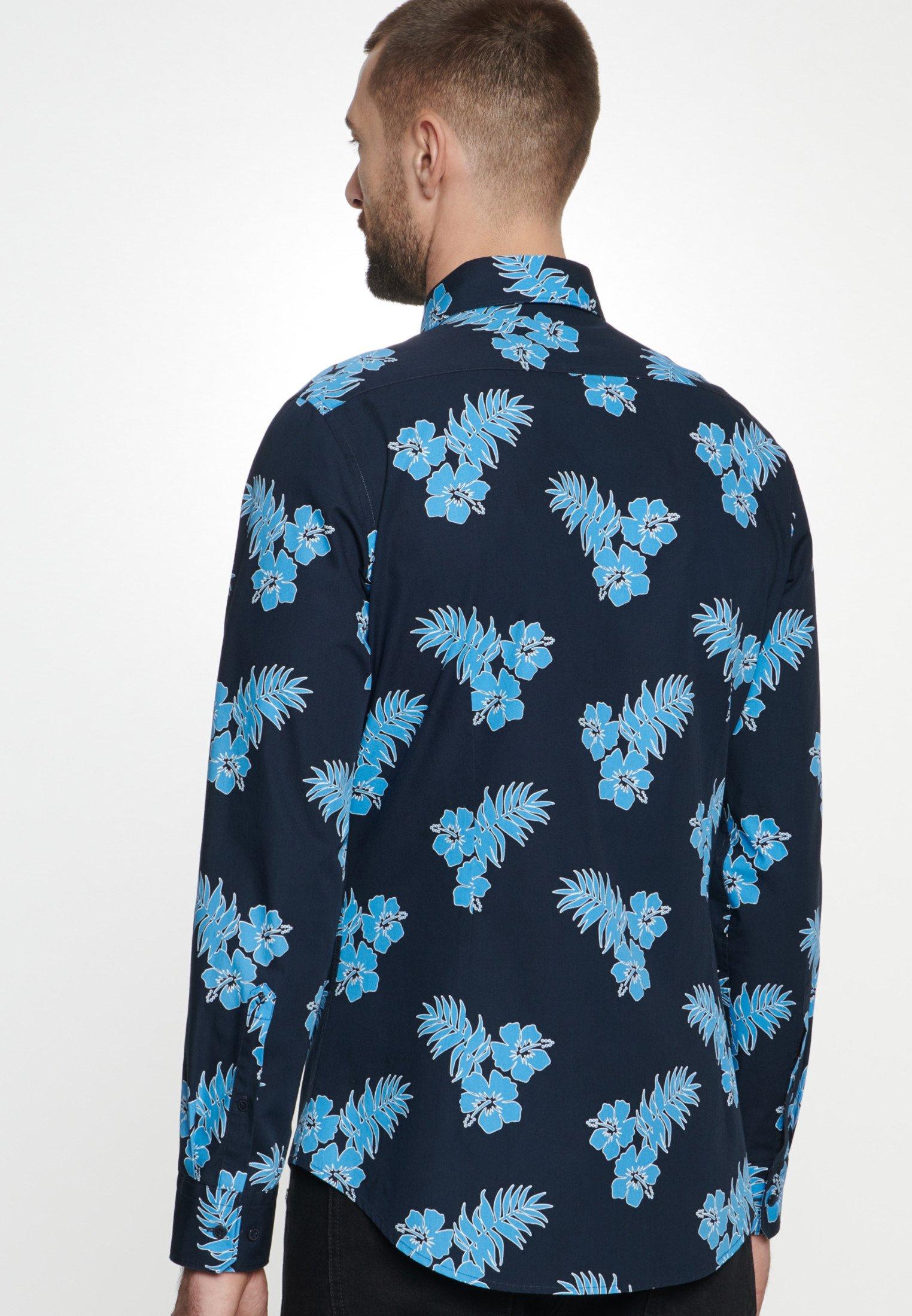 Seidensticker Hemd Slim - Chemise Turquoise c0mVRGj
