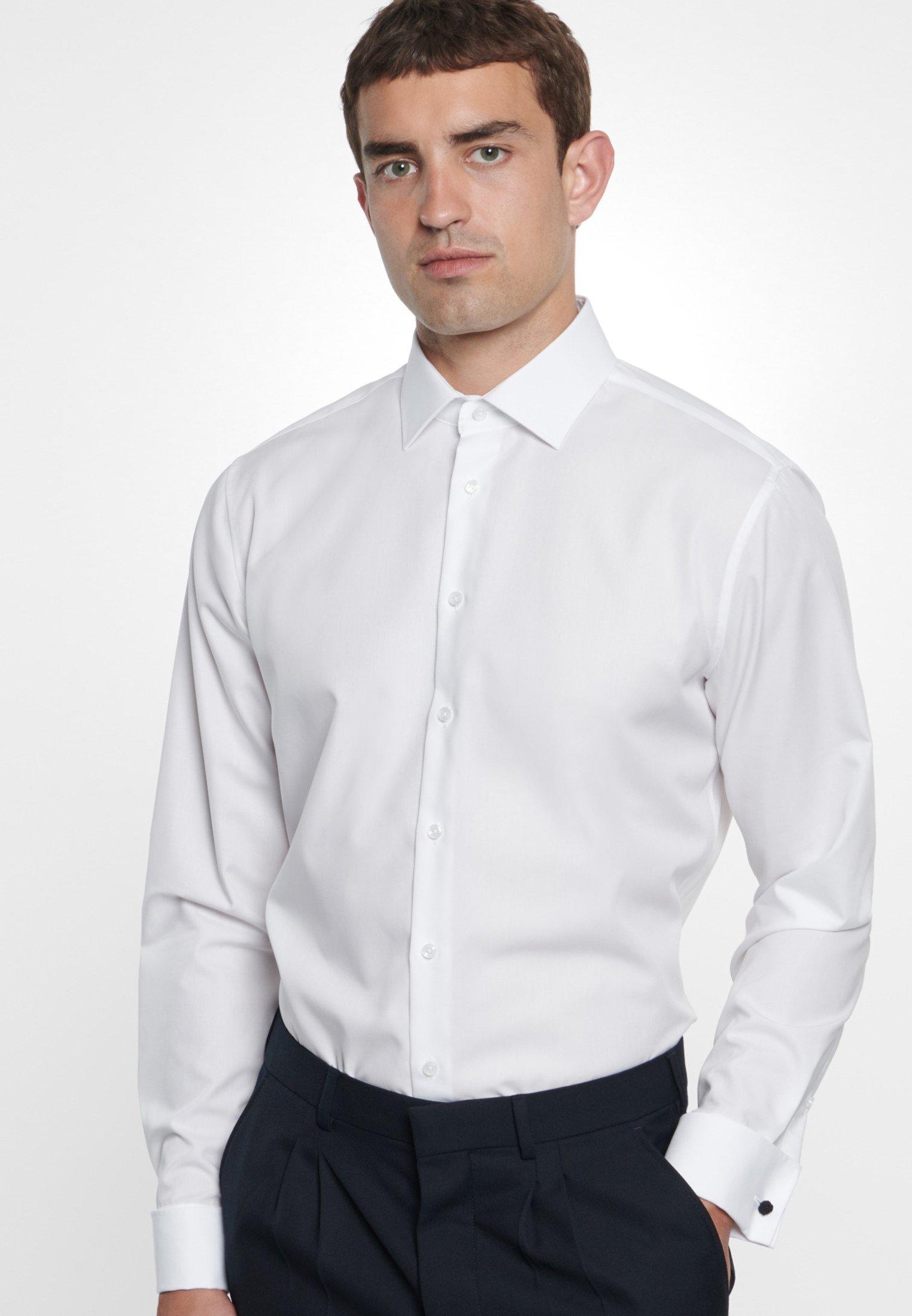 Seidensticker SHAPED FIT - Koszula biznesowa - white