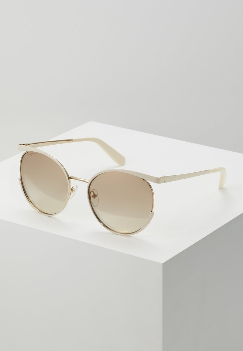 Salvatore Ferragamo - Sonnenbrille - ivory/gold-coloured