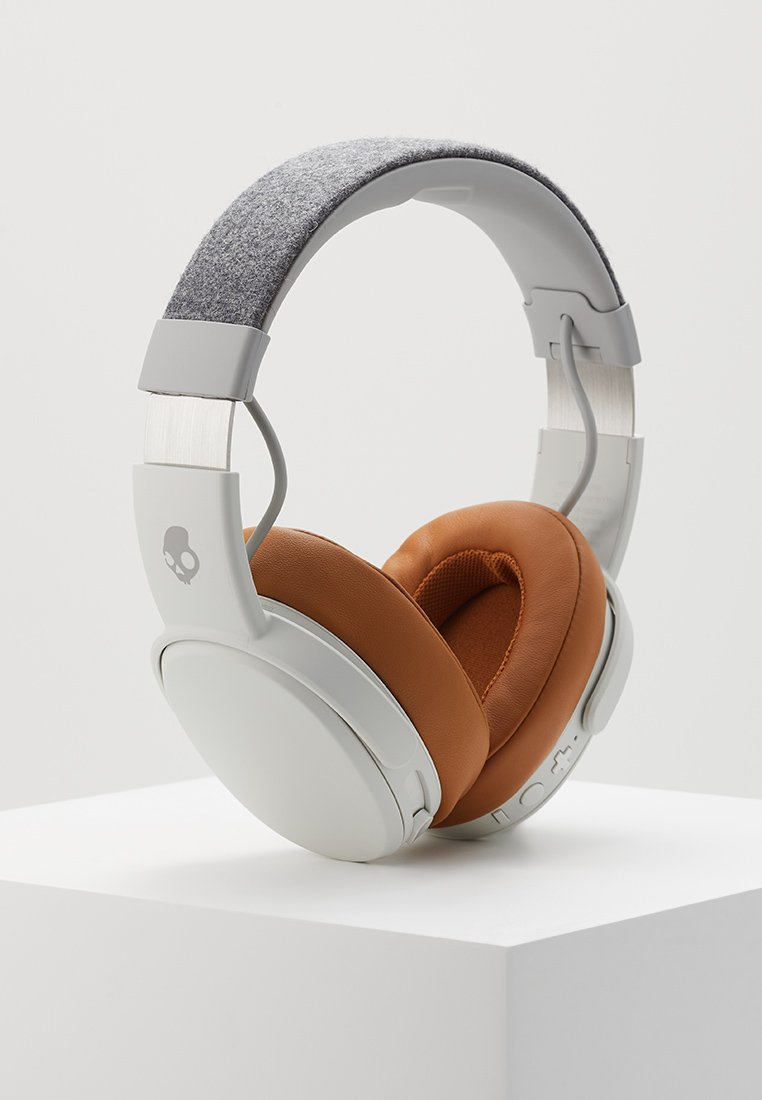 tan Crusher Wireless earCasque Over Skullcandy Gray mN0vn8w