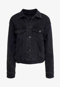 3x1 - OVERSIZED CLASSIC CROP JACKET - Denim jacket - shred - 3