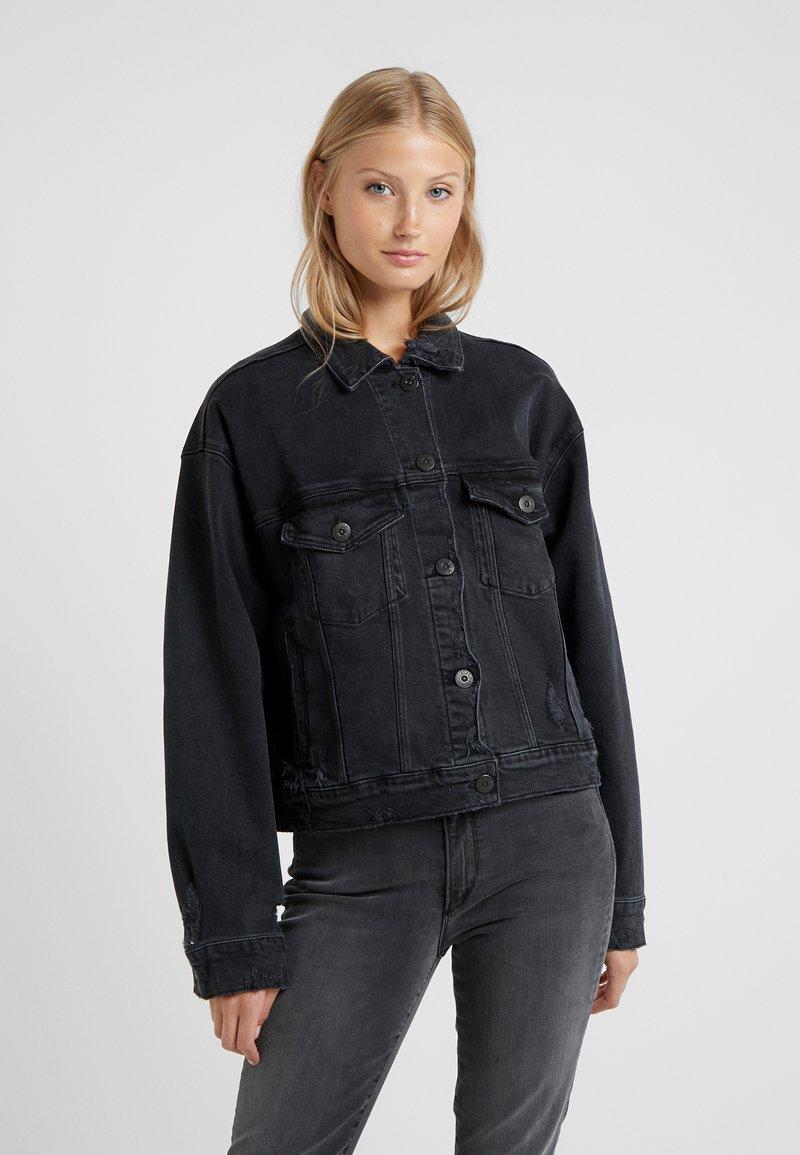3x1 - OVERSIZED CLASSIC CROP JACKET - Denim jacket - shred