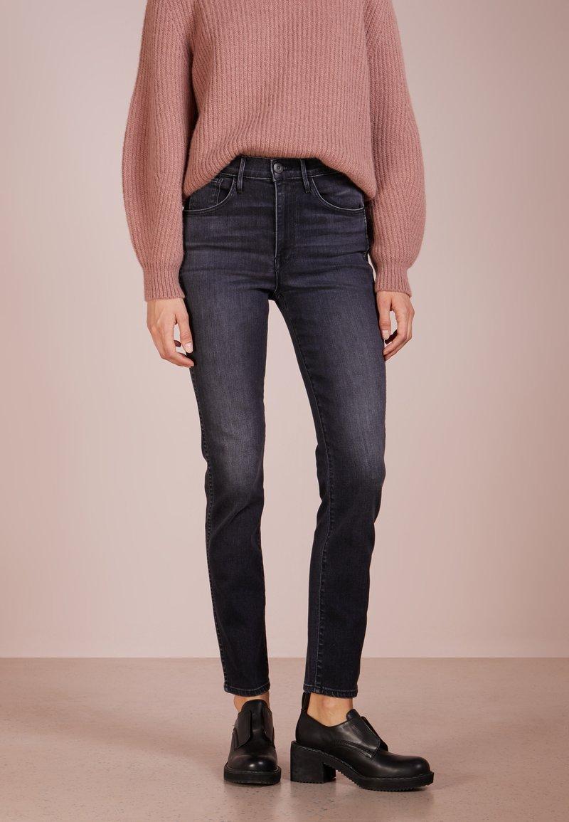 3x1 - STRAIGHT AUTHENTIC - Jeans Slim Fit - raven