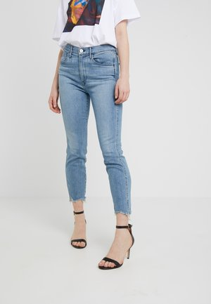 HIGH RISE AUTHENTIC CROP - Straight leg jeans - blue denim