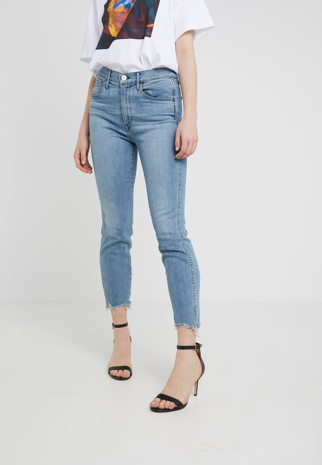 HIGH RISE AUTHENTIC CROP - Straight leg -farkut - blue denim