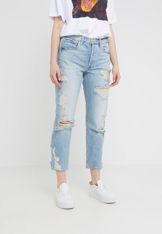 HIGHER GROUND CROP - Straight leg jeans - marco
