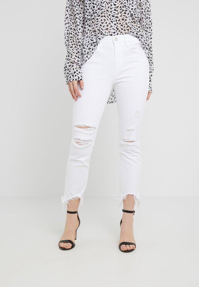 HIGH RISE AUTHENTIC CROP - Jeans Straight Leg - franz