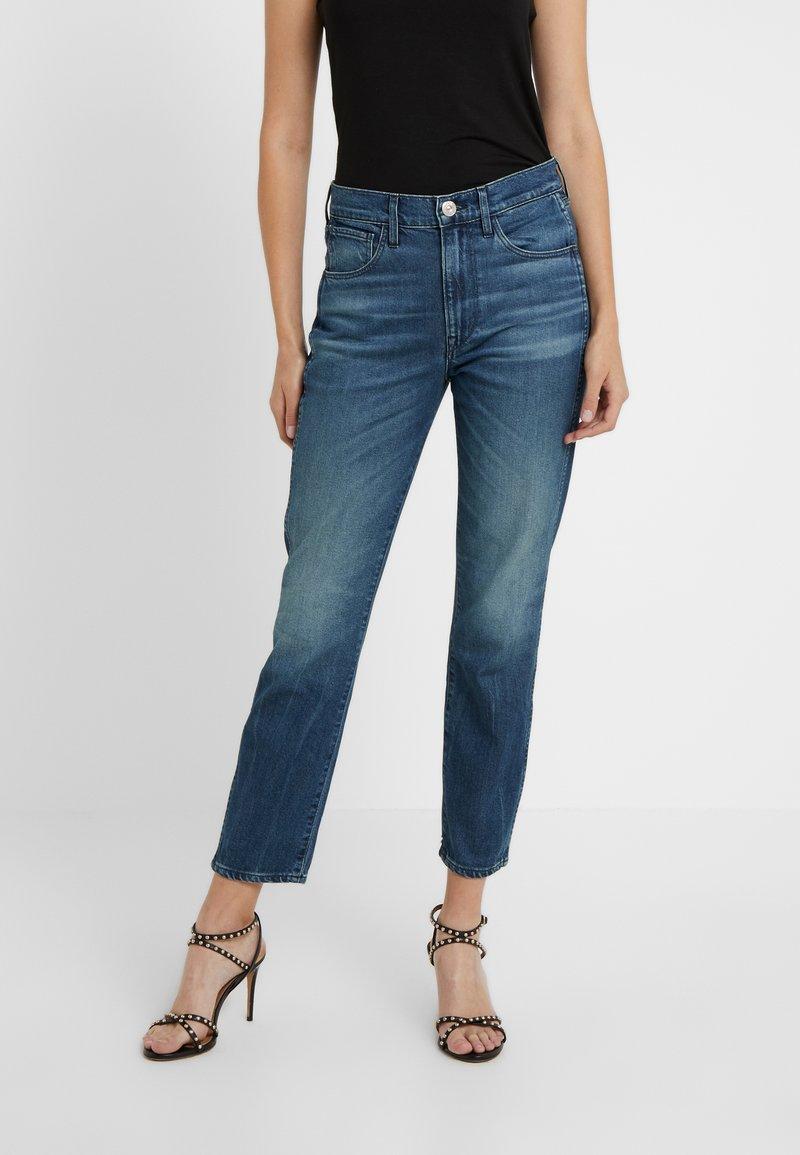 3x1 - HIGH RISE AUTHENTIC CROP - Jeans straight leg - blue denim