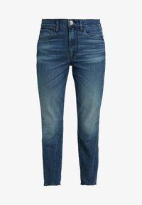 3x1 - HIGH RISE AUTHENTIC CROP - Džíny Straight Fit - blue denim - 4