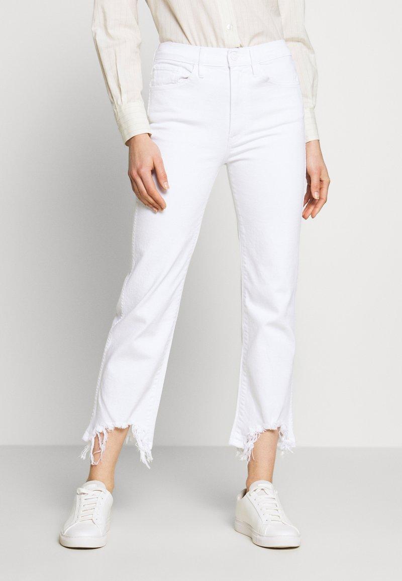 3x1 - AUSTIN CROP - Straight leg jeans - playa