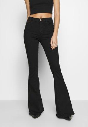 MAXIME - Jeans bootcut - black denim