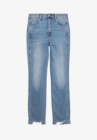 3x1 - AUTHENTIC CROP - Straight leg jeans - gina destroy - 5