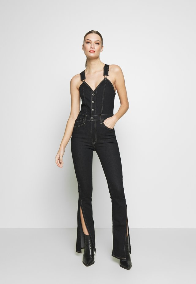 MAYA TWIST OVERALL - Latzhose - black denim