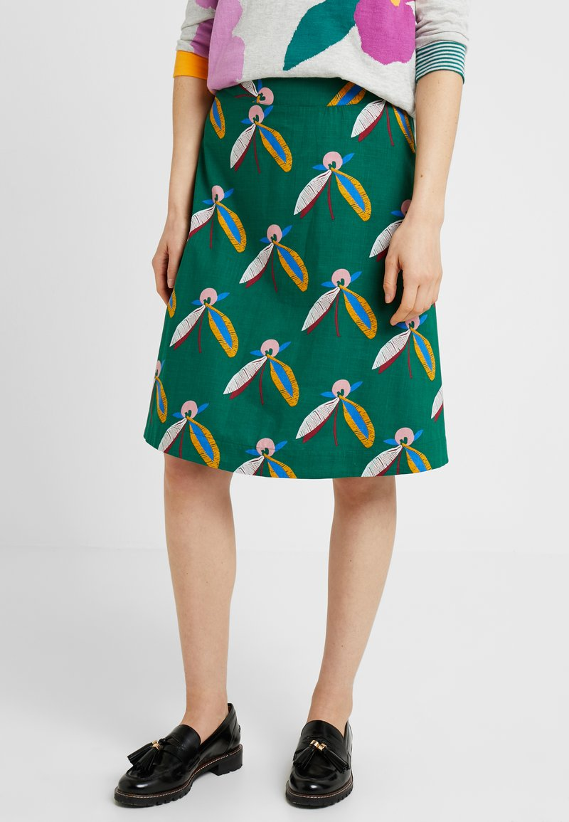 White Stuff - BLOSSOMSEED REVERSIBLE SKIRT - Falda acampanada - green