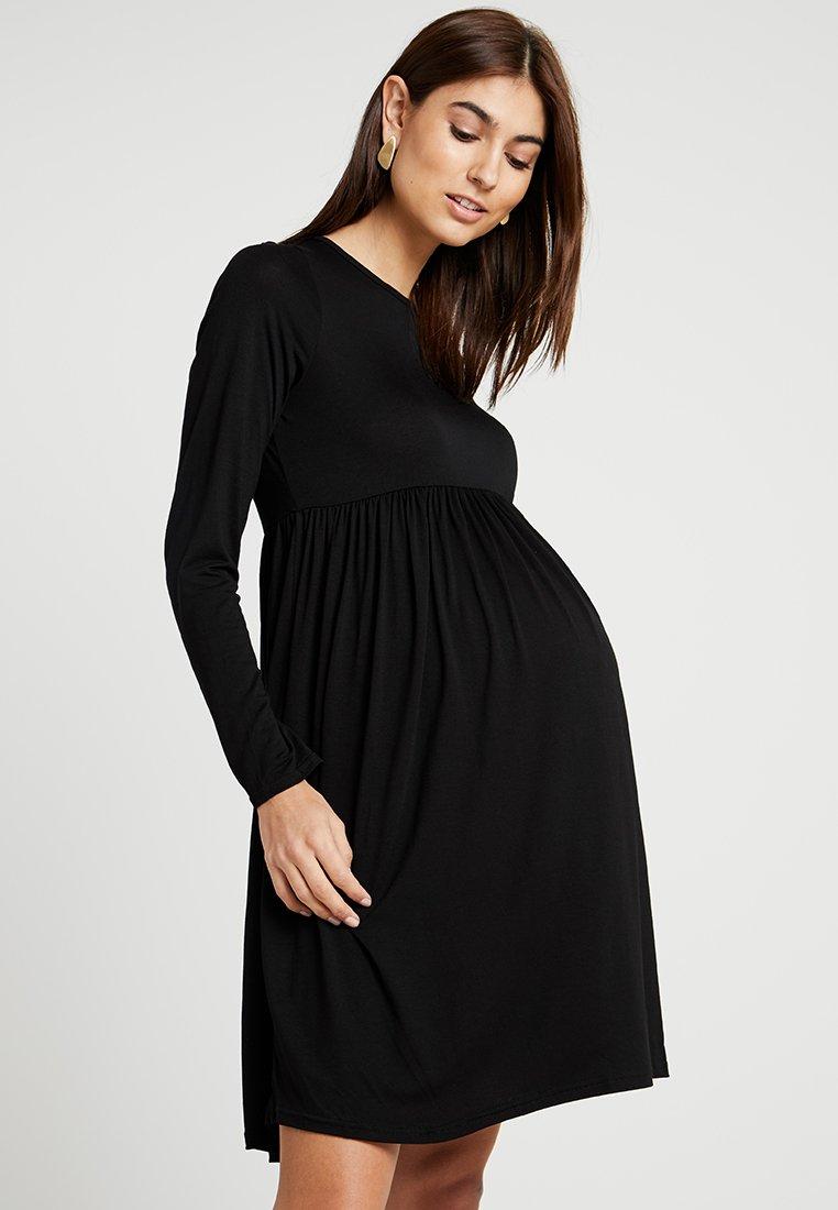 New Look Maternity - MATERNITY PLAIN SMOCK - Jerseykleid - black