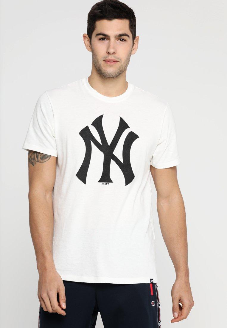 '47 - MLB NEW YORK YANKEES SPLITTER TEE - Club wear - white/black