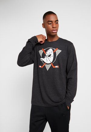 NHL ANAHEIM DUCKS LINE UP CLUB LONG SLEEVE TEE - Article de supporter - jet black