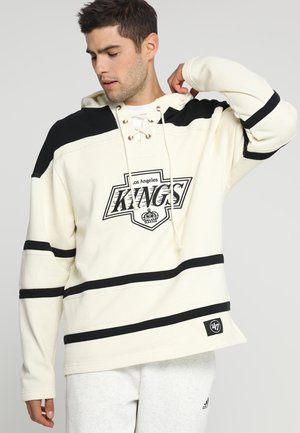 LOS ANGELES KINGS LACER HOOD - Pelipaita - cream