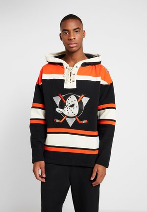 ANAHEIM DUCKS LACER HOOD - Sweat à capuche - jet black