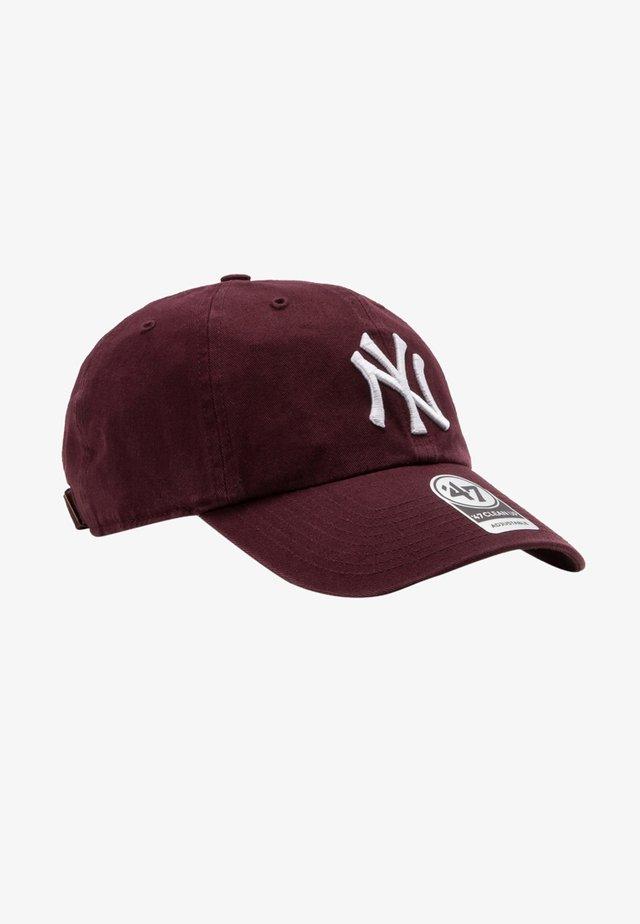 NEW YORK YANKEES CLEAN UP - Kšiltovka - dark maroon
