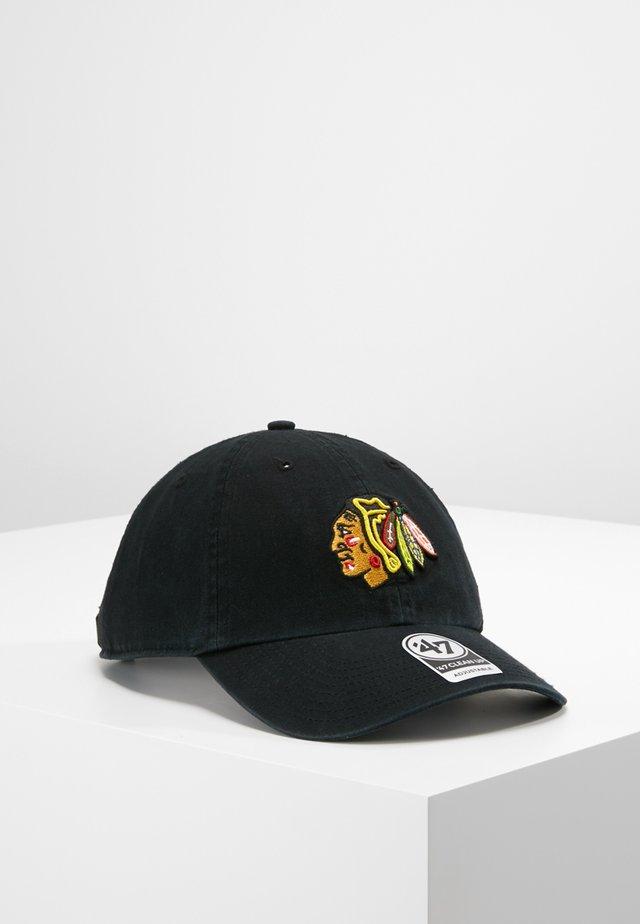 NHL CHICAGO BLACKHAWKS 47 CLEAN UP - Kšiltovka - black