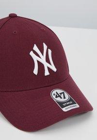 '47 - NEW YORK YANKEES - Czapka z daszkiem - dark maroon - 4