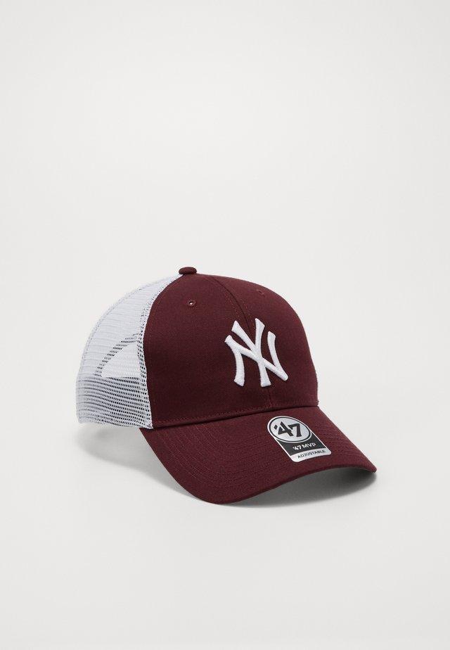 NEW YORK YANKEES BRANSON - Czapka z daszkiem - dark maroon