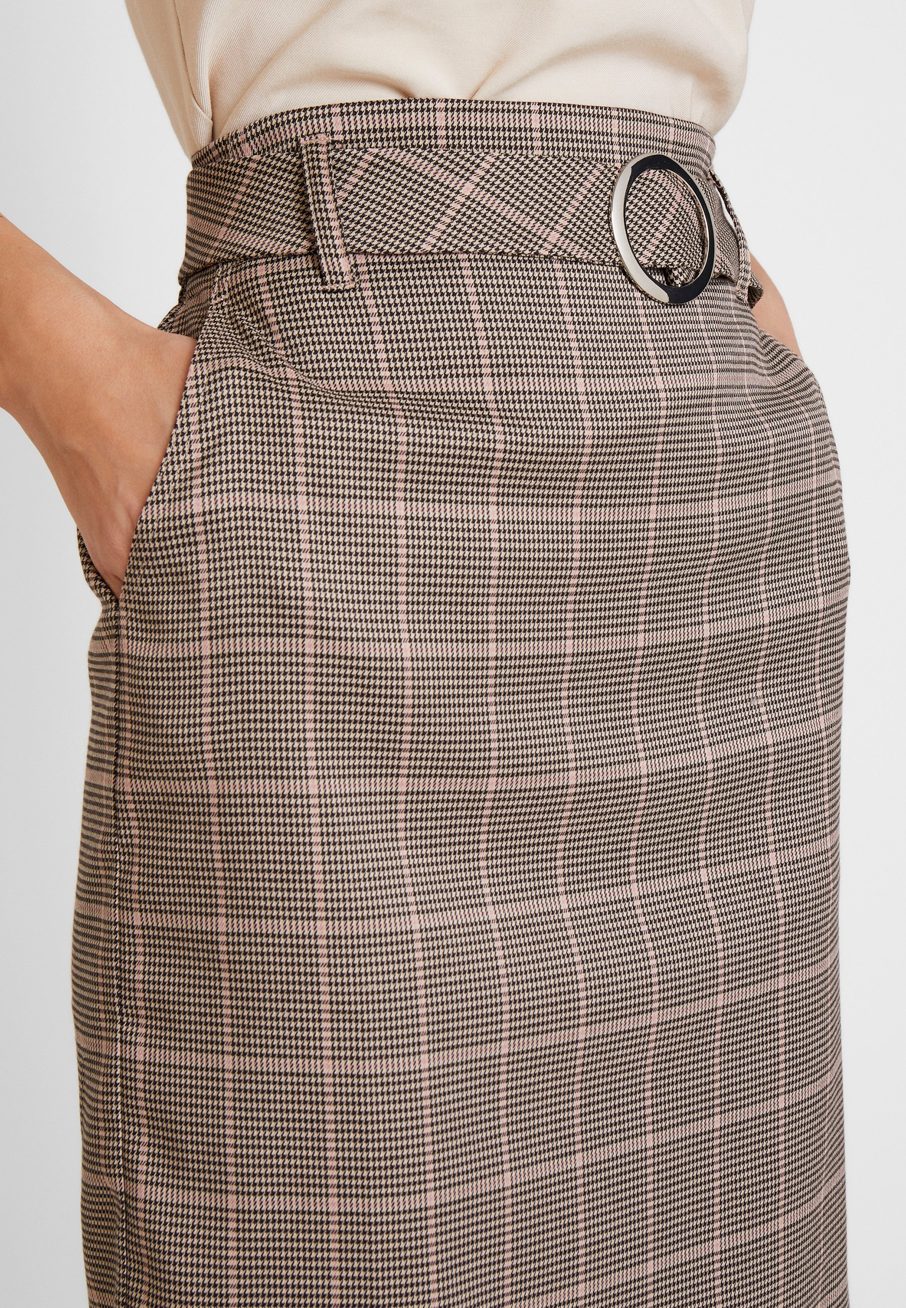 Skirt Apart BeltJupe Taupe Crayon Glencheck With Aq5L34Rj