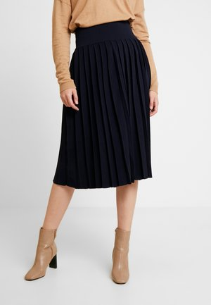 SKIRT WITH PLEATS - A-linjainen hame - midnightblue