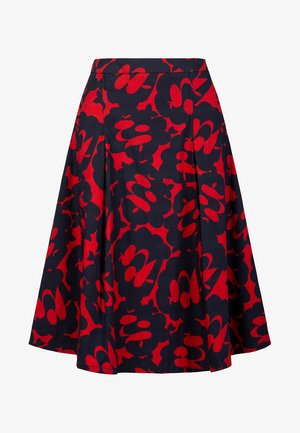 PRINTED SKIRT - Gonna a campana - red/midnightblue