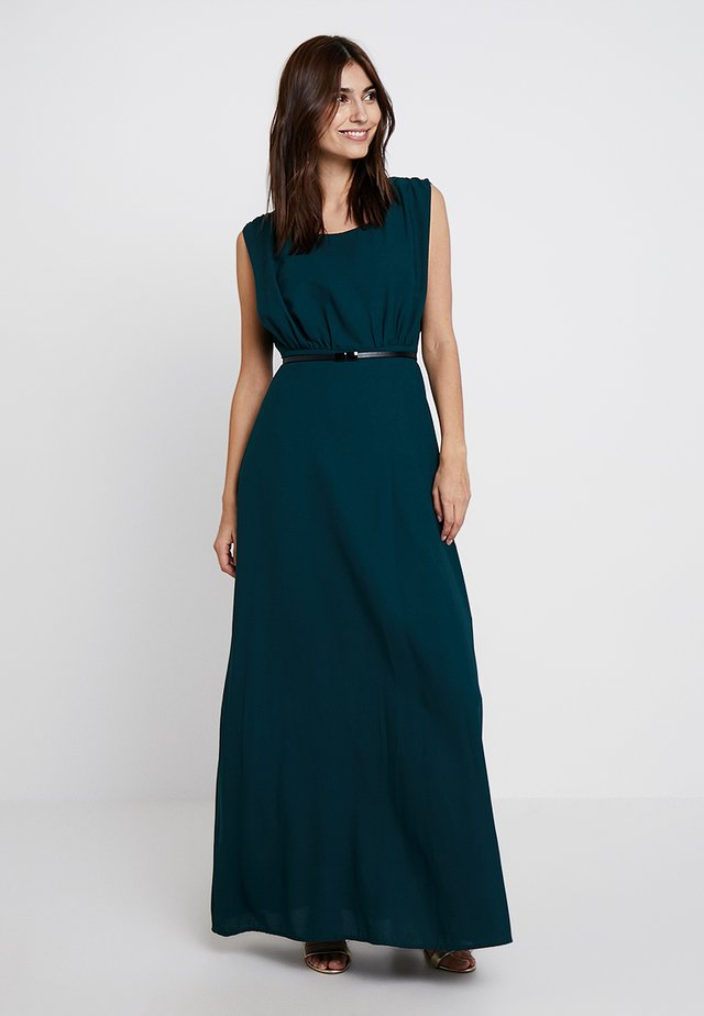 DRESS WITH BELT - Cocktailkjoler / festkjoler - emerald