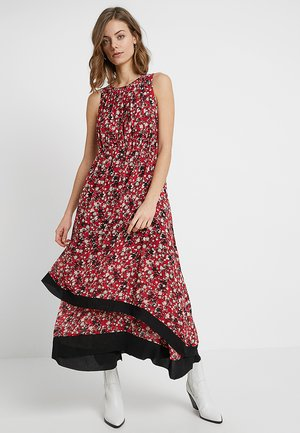 PRINTED DRESS - Robe longue - red/multicolor