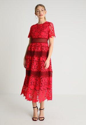 DRESS - Suknia balowa - coral/burgundy